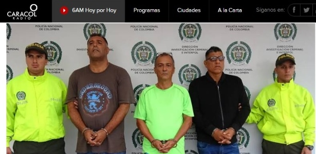 Jose John Jimenez Guzman (2º à esq) será extraditado