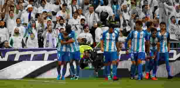 Jogadores do Málaga comemoram gol contra o Real Madrid - Javier Barbancho/Reuters - Javier Barbancho/Reuters