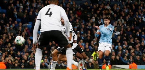 Brahim Díaz marca gol pelo Manchester City diante do Fulham -  REUTERS/Andrew Yates