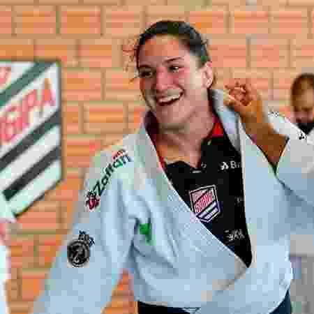 Mayra Aguiar, judoca da Sogipa, em treino antes da pandemia - Abelardo Mendes Jr/Rede do Esporte