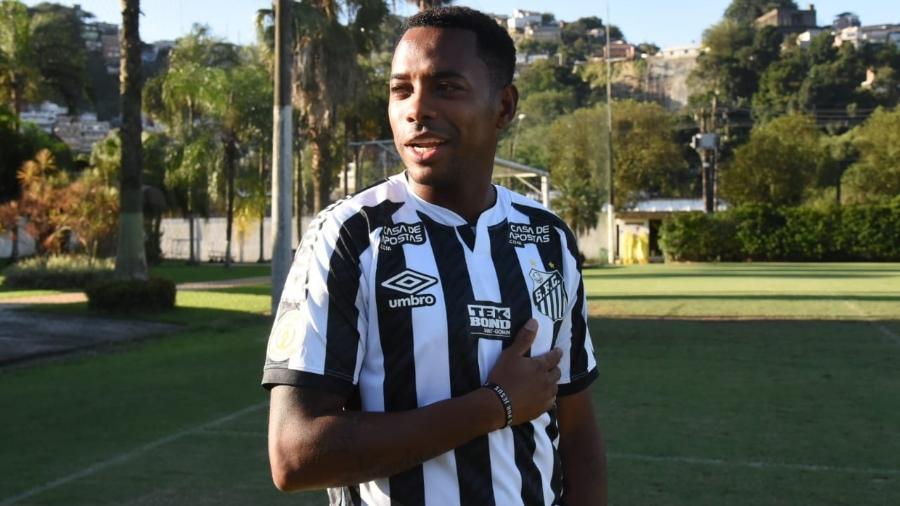 Robinho, com a camisa do Santos - Divulgação