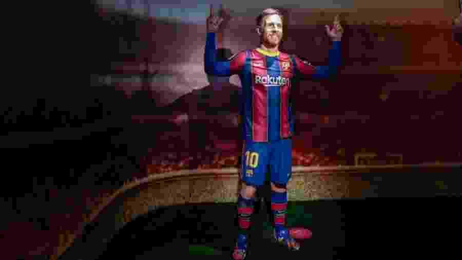 Réplica de cera de Messi em museu de Barcelona - Miquel Benitez/Getty Images