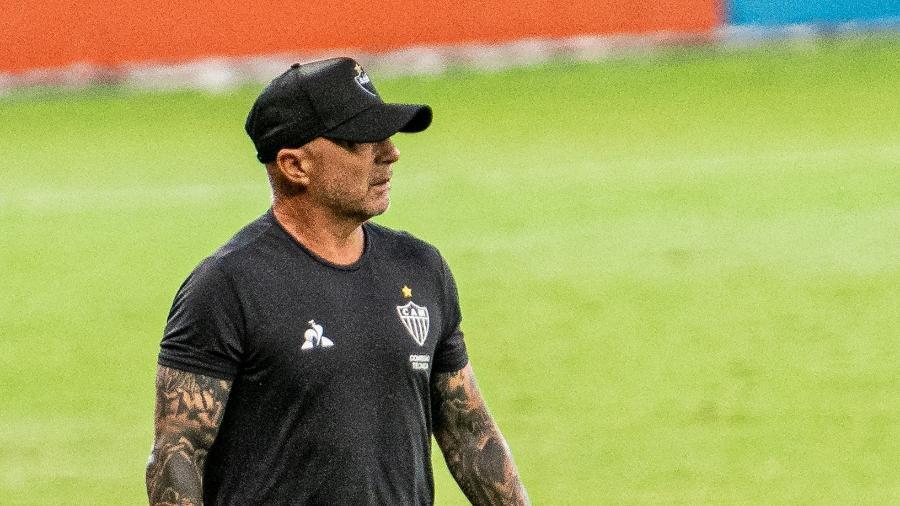 Técnico do Galo chamou atenção para a ideia de jogo colocada em prática pelos jogadores - Alessandra Torres/AGIF