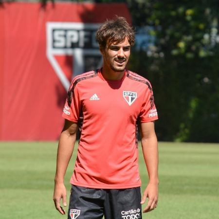 Igor Gomes, jogador do São Paulo, em treino no CT da Barra Funda - Divulgação/SPFC