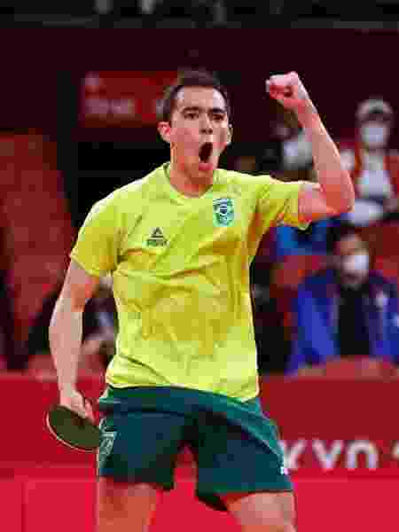 Hugo Calderano em ação nas Olimpíadas de Tóquio - REUTERS/Luisa Gonzalez - REUTERS/Luisa Gonzalez