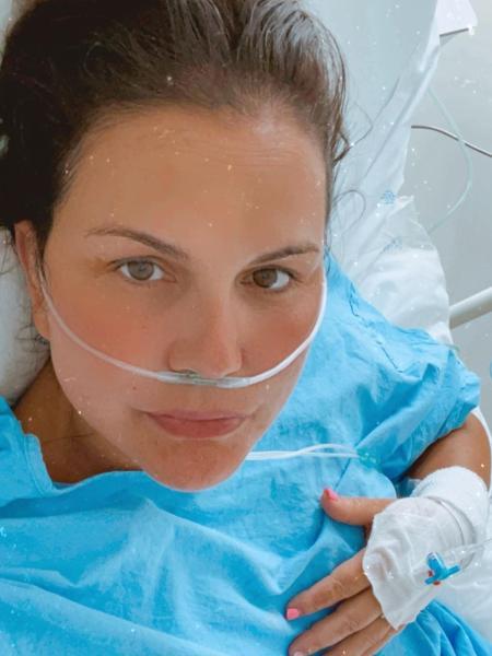 Kátia Aveiro, irmã de Cristiano Ronaldo, foi internada com pneumonia em decorrência da covid-19 - Reprodução