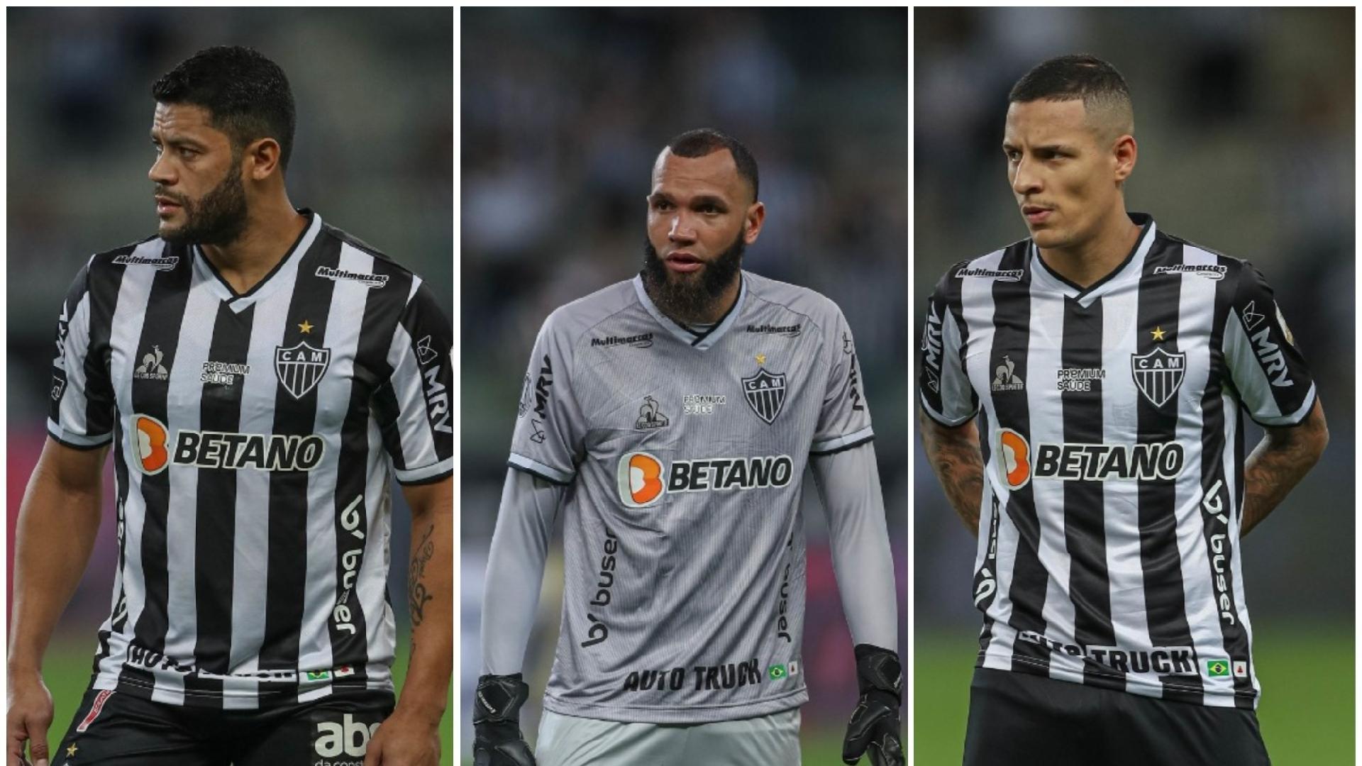 Hulk, Everson e Arana serão os representantes do Galo nos jogos do Brasil contra Chile, Argentina e Peru