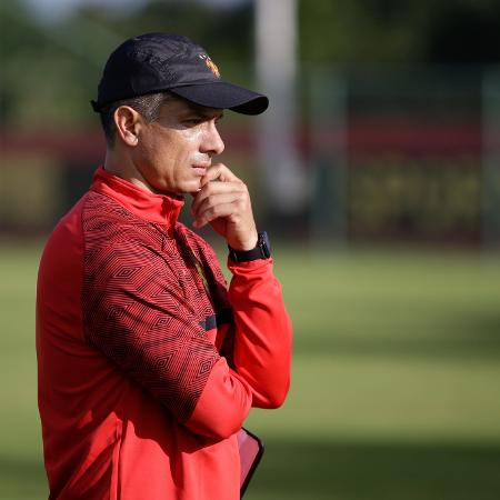 Gustavo Florentin durante treino na Ilha do Retiro - Sport