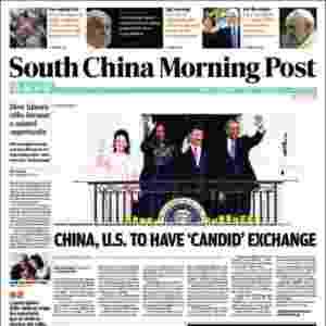 """South China Morning Post (China): """"Suíça abre procedimentos legais contra o chefe da Fifa, Sepp Blatter"""" - Reprodução"""