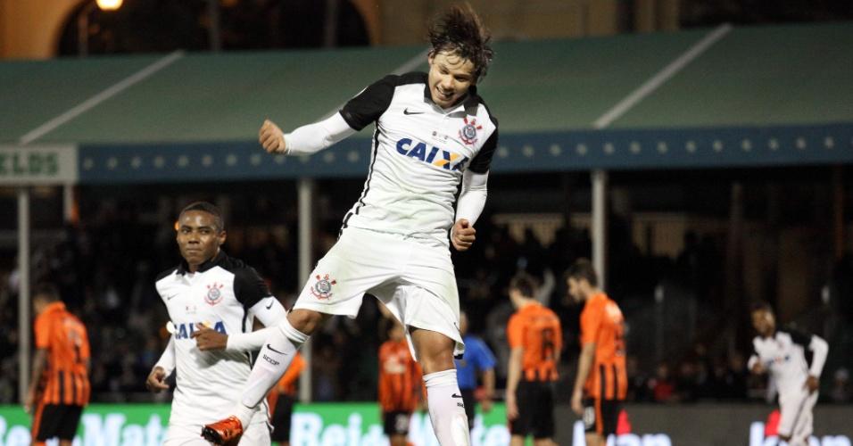 Romero comemora o seu gol pelo Corinthians contra o Shakhtar na Florida Cup