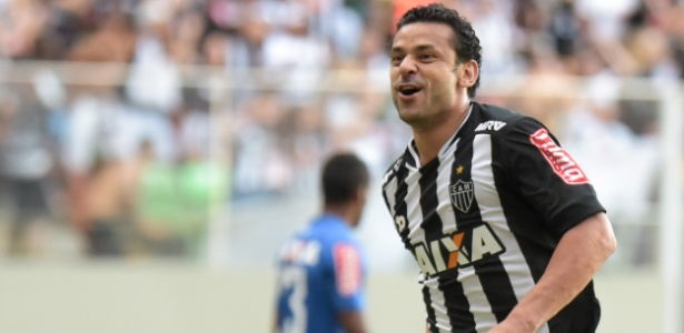 Fred comemora após marcar para o Atlético-MG contra o Cruzeiro pelo Campeonato Brasileiro