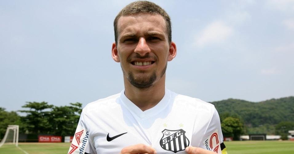 Lucas Lima quando chegou ao Santos, antes de explodir, com os dentes separados