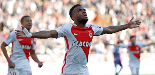 Thomas Lemar comemora gol marcado pelo Monaco contra o Toulouse