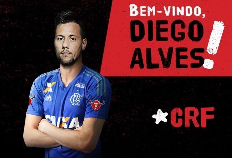 Diego Alves é anunciado pelo Flamengo após assinar contrato de três anos e meio