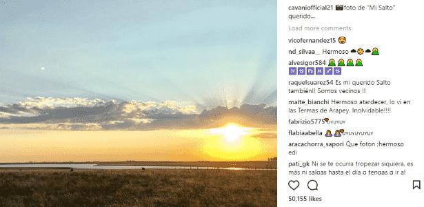 Cavani - reprodução/Instagram - reprodução/Instagram