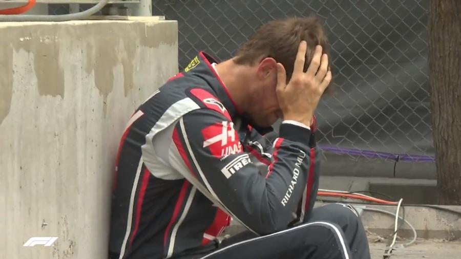 Francês da Haas foi o único a não marcar tempo durante o Q1 - Reprodução