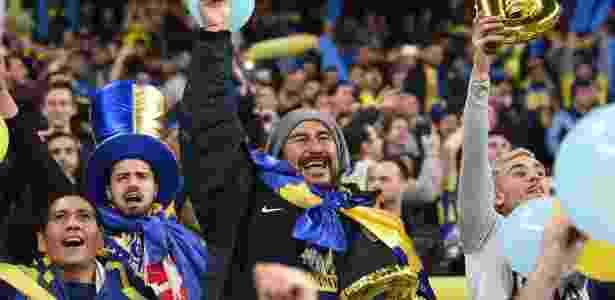 Torcida do Boca Juniors virou protagonista durante boa parte da decisão em Madri - Matthias Hangst/ Staff