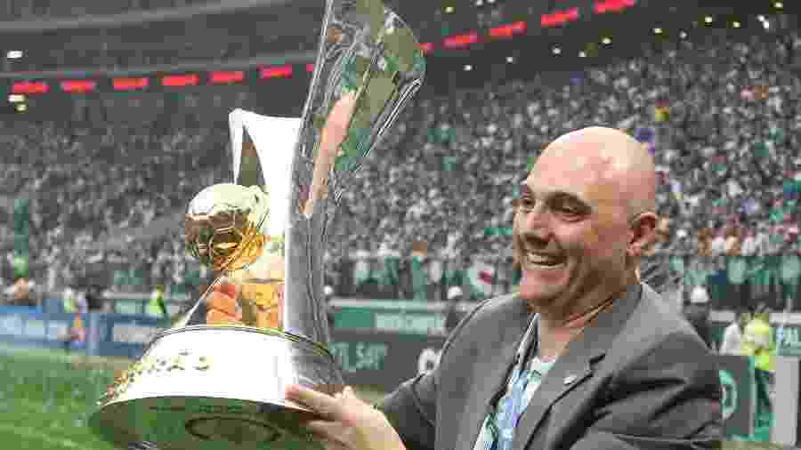 Maurício Galiotte, presidente do Palmeiras, ganhou a queda de braço com a Globo - Cesar Greco/Ag. Palmeiras/Divulgação