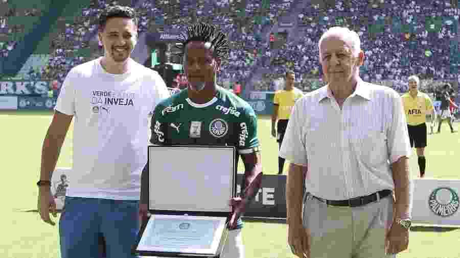 Seraphim del Grande representou Palmeiras na despedida de Zé Roberto - Fabio Menotti/Ag. Palmeiras