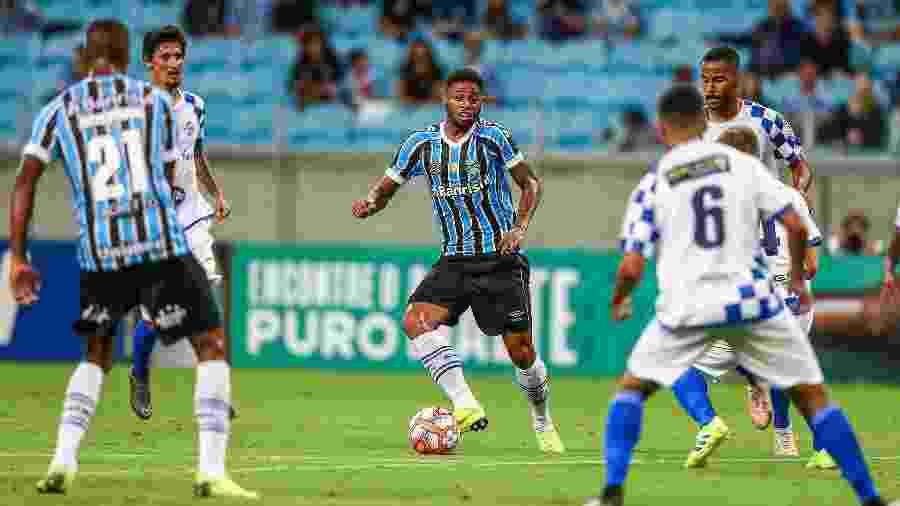 André será centroavante do Grêmio no clássico contra o Internacional, pelo Gauchão - Lucas Uebel/Grêmio