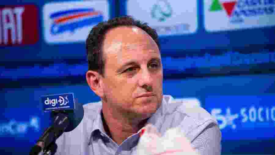 Técnico Rogério Ceni, do Cruzeiro, em entrevista na Toca da Raposa - Bruno Haddad/Cruzeiro