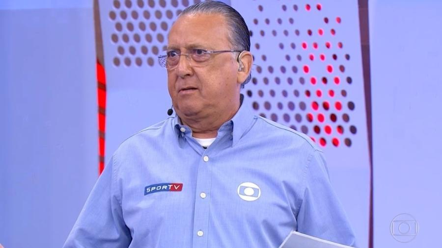 Galvão Bueno durante transmissão da Fórmula 1 - Reprodução/TV Globo