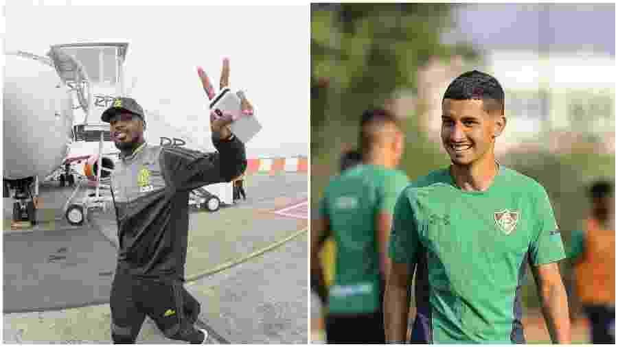 Gerson, do Flamengo, e Danielzinho, do Fluminense, já foram companheiros na base do Tricolor - Colagem de fotos de Alexandre Vidal / Flamengo e Lucas Merçon / Fluminense F.C