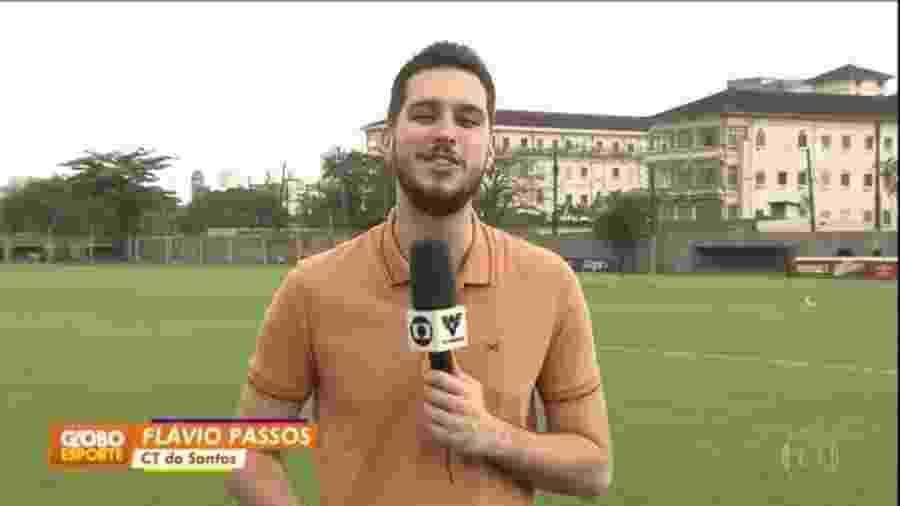 Flávio Passos é o novo repórter da TV Tribuna  - Reprodução/TVGlobo