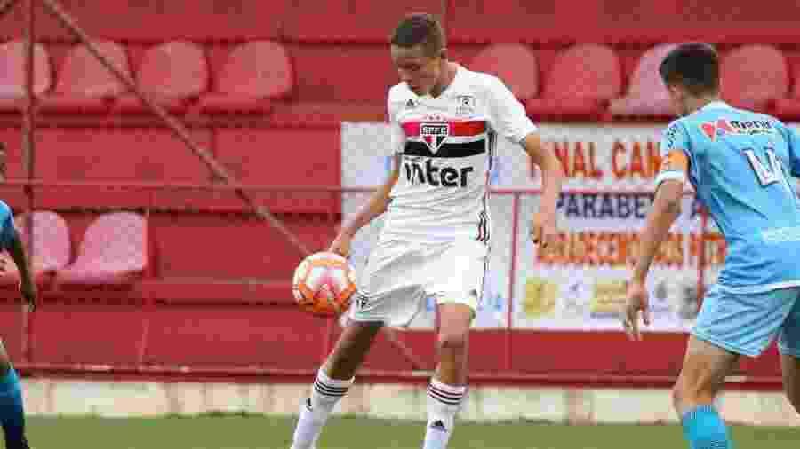 Thierry Henry é atacante do time sub-13 do São Paulo, que foi campeão paulista - Igor Amorim/saopaulofc.net