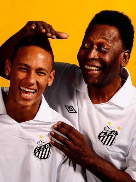 Santos publica foto antiga de Neymar e Pelé - divulgação/Santos