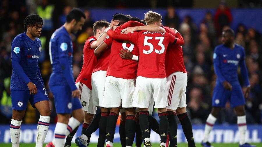 Martial e Maguire marcaram os gols do United em Stamford Bridge; Chelsea fez dois gols, ambos anulados pelo VAR - Hannah MacKay/Reuters