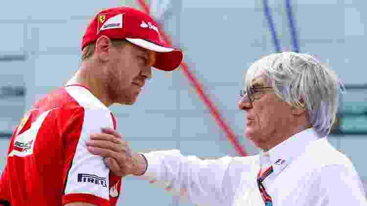 Ecclestone e Vettel - Charles Coates/Getty Images - Charles Coates/Getty Images