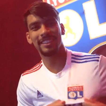 Lucas Paquetá aparece com a camisa do Lyon em vídeo de apresentação - Reprodução/Twitter