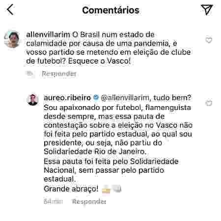 Presidente do Solidariedade (RJ), deputado federal Aureo Ribeiro negou que seu núcleo tenha a autoria da ação - Reprodução / Instagram - Reprodução / Instagram