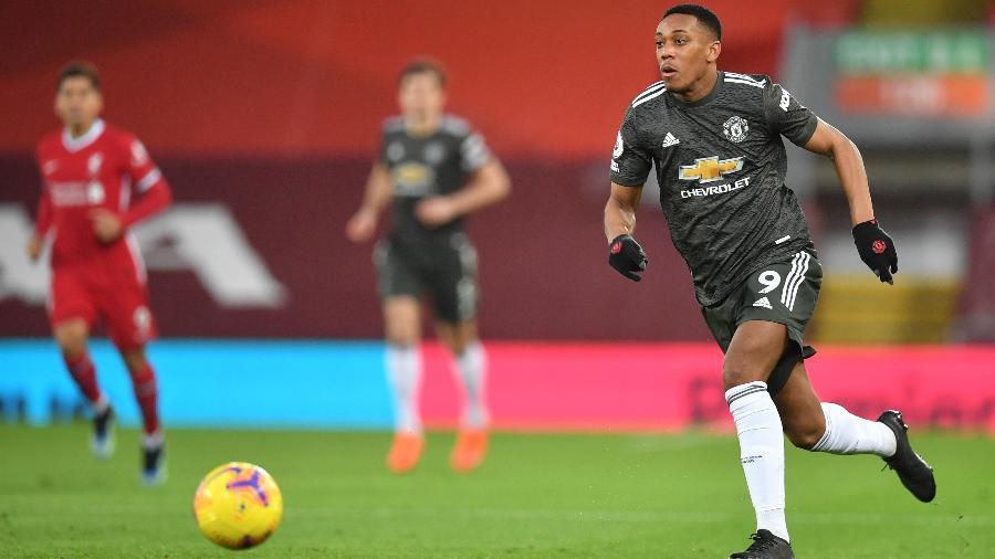 Anthony Martial, durante partida do Manchester United - Paul ELLIS / POOL / AFP