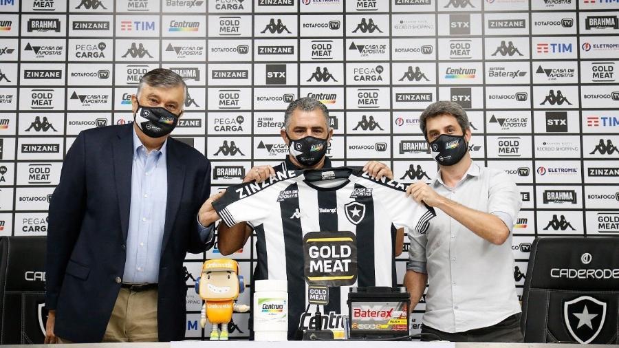 Marcelo Chamusca é apresentado como técnico do Botafogo - Reprodução Twitter Botafogo