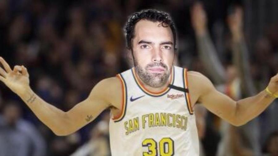 """Rosto de Vitor Benite """"substituiu"""" foto do astro da NBA após vitória do San Pablo Burgos na Liga Espanhola - Reprodução/Instagram"""