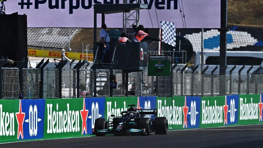 Lewis Hamilton foi o vencedor do GP de Portugal - Clive Mason - Formula 1/Formula 1 via Getty Images