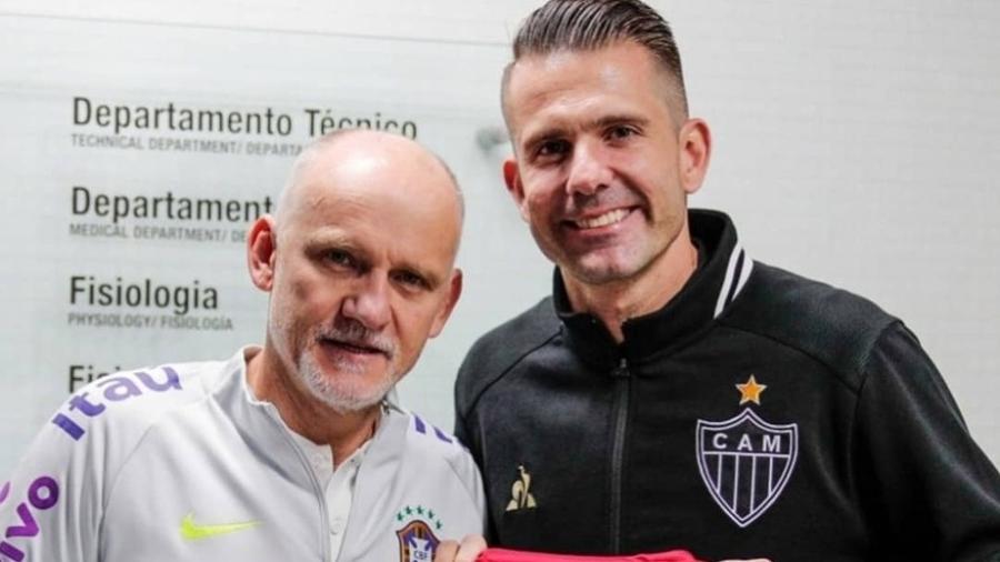 Taffarel vestiu a camisa do Galo entre 1995 e 1998 antes de acertar com o Galatasaray, da Turquia - Divulgação/Atlético-MG