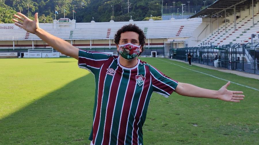 Rafael Portugal é torcedor do Fluminense - Reprodução