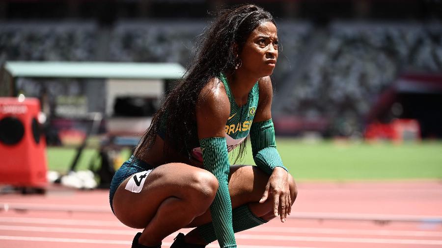 Vitória Cristina Rosa ficou fora da semifinal dos 200m rasos feminino - Jewel SAMAD / AFP