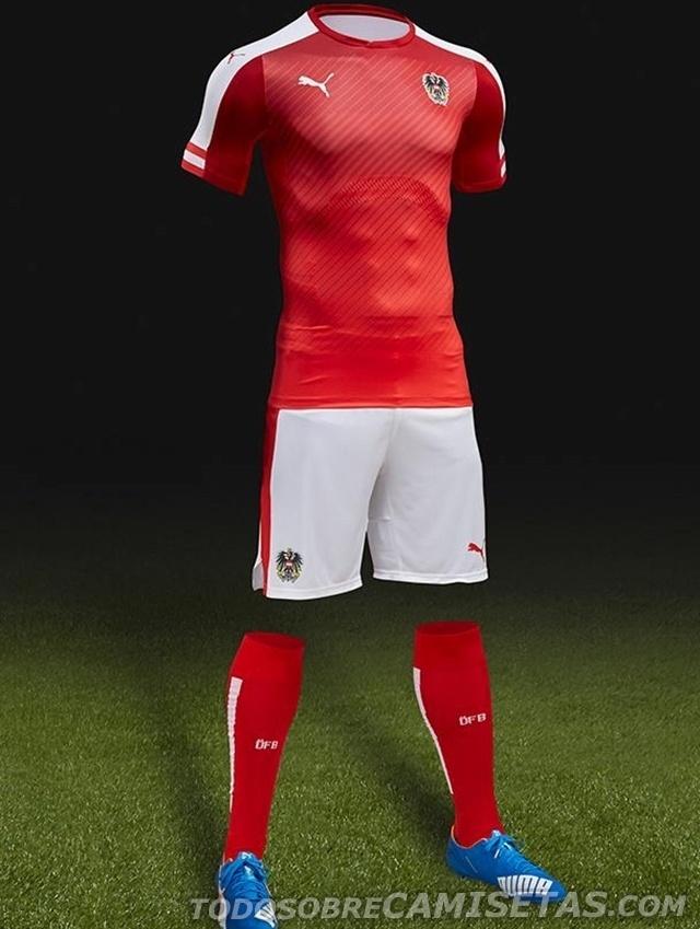 GRUPO F: Áustria (camisa reserva, Puma)