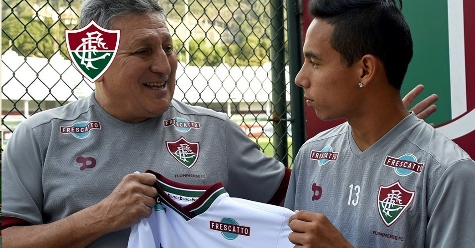 Montagem - Alexis Rojas (meia-atacante) - Do Sportivo Luqueño (PAR) para o Fluminense