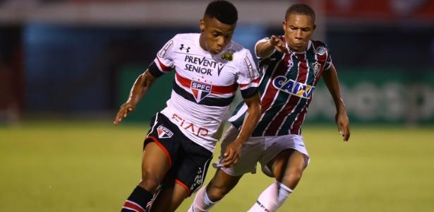 David Neres, quando defendia o São Paulo contra o Fluminense