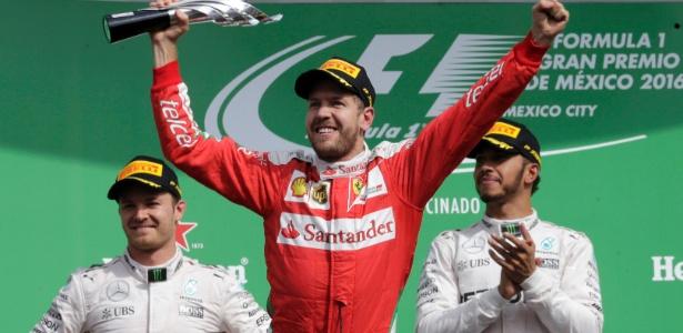 Vettel comemorou, mas não levou terceiro lugar no México - Henry Romero/Reuters