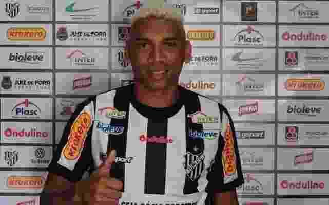 Flávio Caça-Rato, atacante ex-Sport e Santa Cruz, defenderá o Tupi no Campeonato Mineiro - Divulgação / Tupi