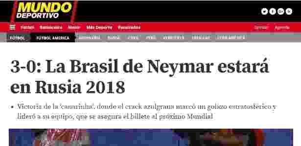 Mundo Deportivo - Reprodução/Mundo Deportivo - Reprodução/Mundo Deportivo