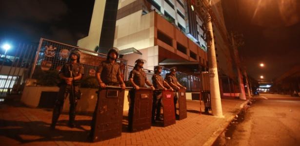 Federação foi alvo de protestos de palmeirenses, mas ninguém foi preso