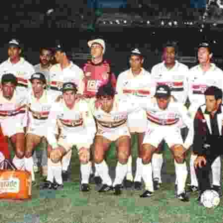 Time do São Paulo posa para foto antes de jogo pela Libertadores de 1992 - Arquivo Histórico do São Paulo Futebol Clube