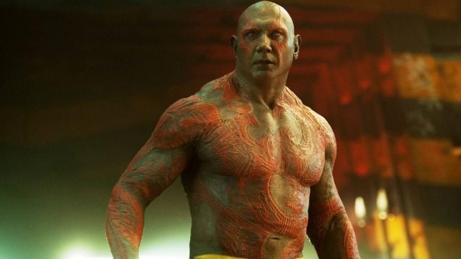 """Drax, personagem de Dave Bautista em """"Guardiões da Galaxy"""" - Divulgação/Disney"""